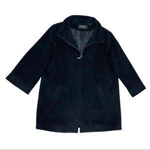 Dana Buchman Women's Black Wool Blend Jacket Size 16